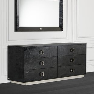 Willa Arlo Interiors Lilou 6 Drawer Double Dresser