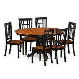 Aimee 7 Piece Solid Wood Dining Set by August Grove®