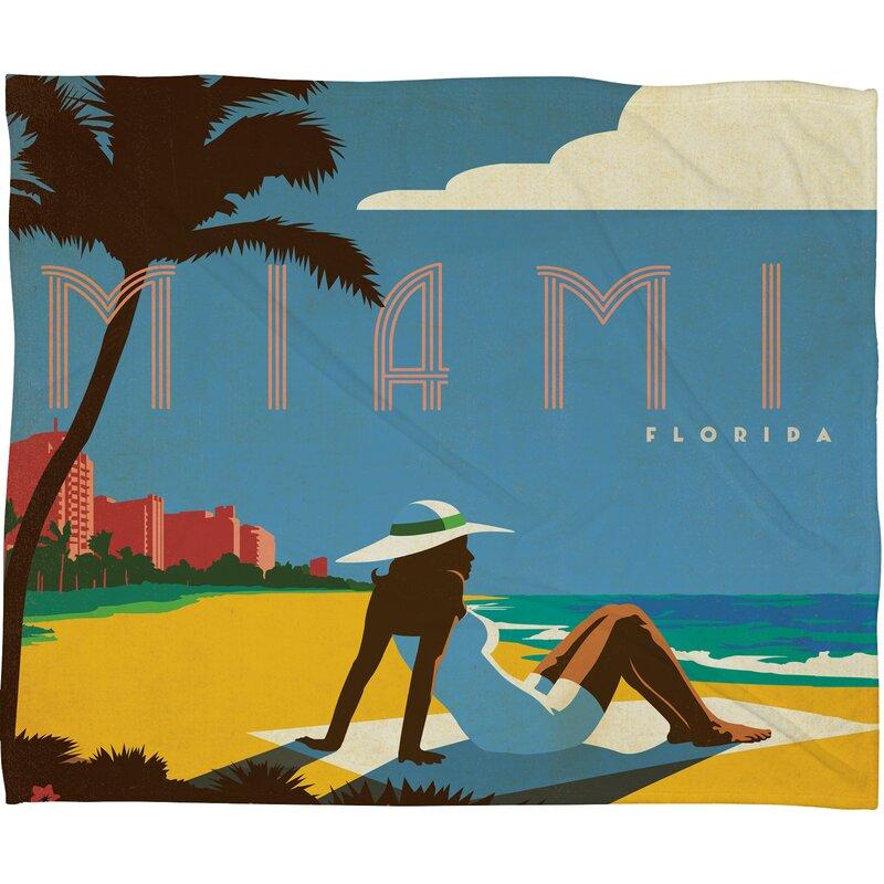 Anderson Design Group Miami Throw Blanket