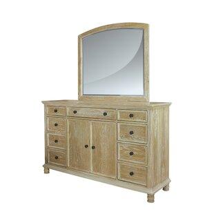 Gracie Oaks Toscano 9 Drawer Dresser with Mirror
