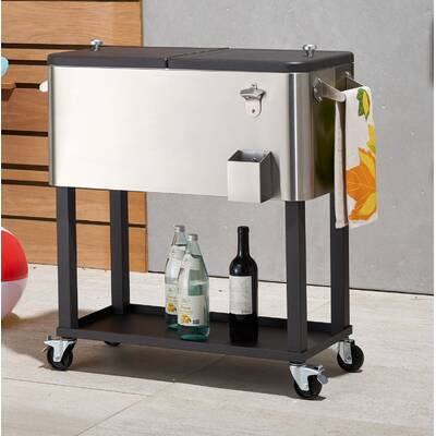 80 Qt Rolling Cooler With Cover