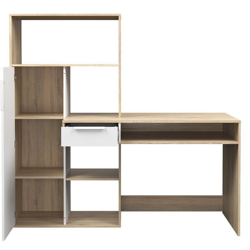 Chang 1 Drawer 3 Adjustable Shelves Computer Desk