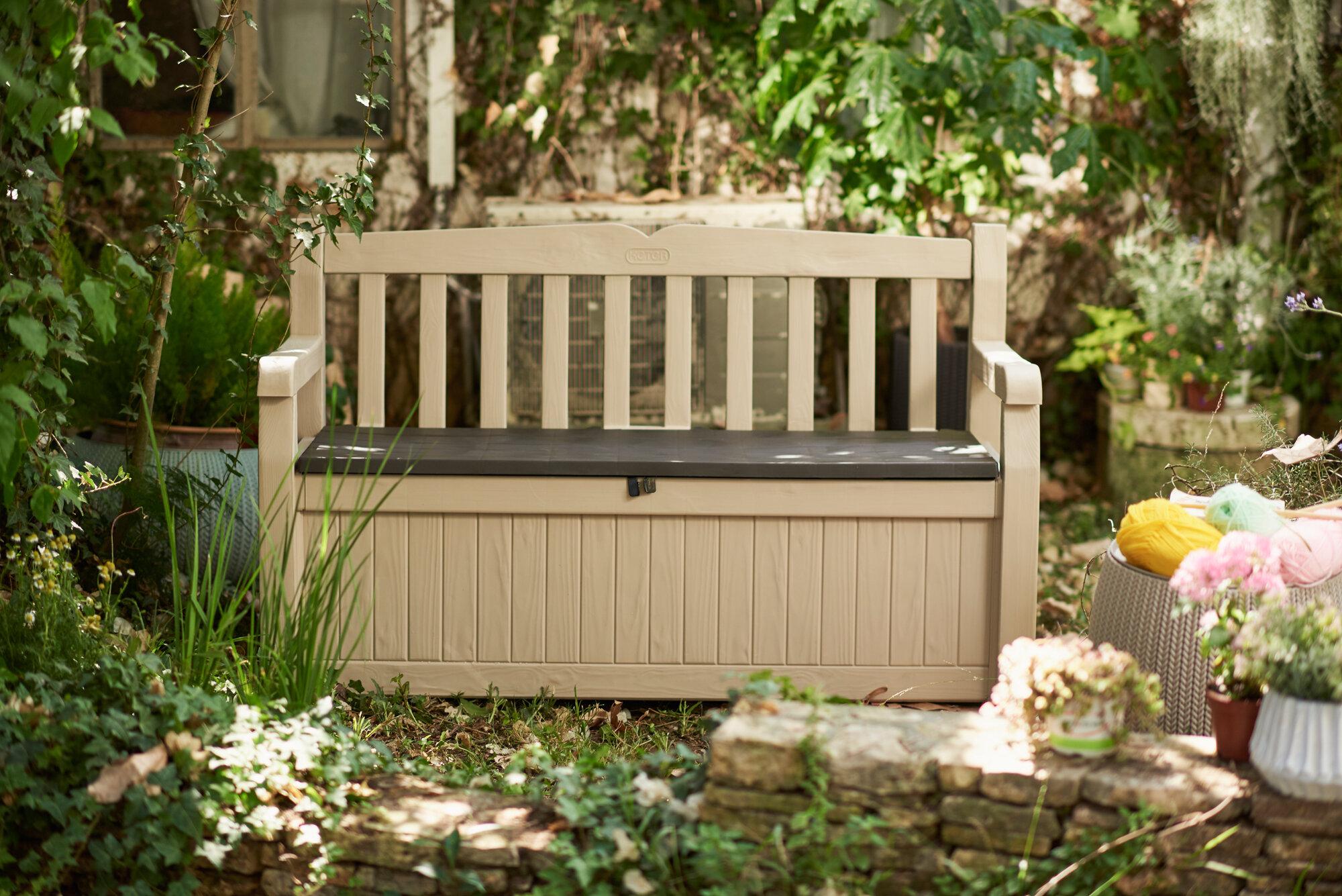 Keter Eden All Weather Resin Storage Bench   Wayfair