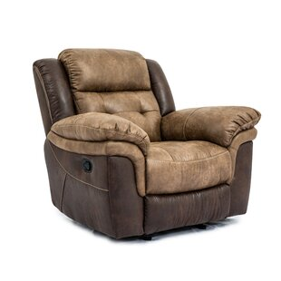 Two Tone Manual Recliner by LYKE Home