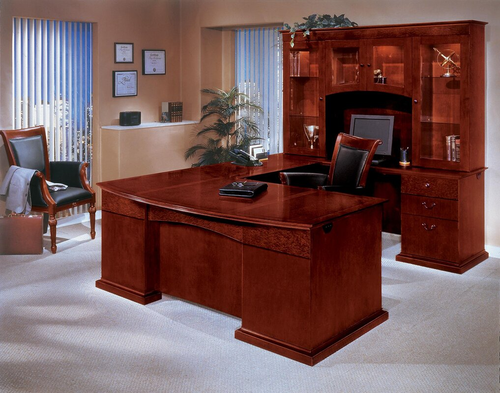 Del Mar U-Shape Executive Desk with Hutch