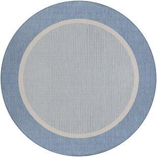 Linden Texture Blue/Gray Area Rug by Beachcrest Home