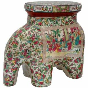 Elephant Garden Stool by Oriental Furniture