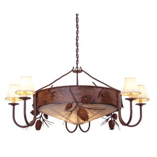 Steel Partners Ponderosa Pine 3-Light Shaded Chandelier