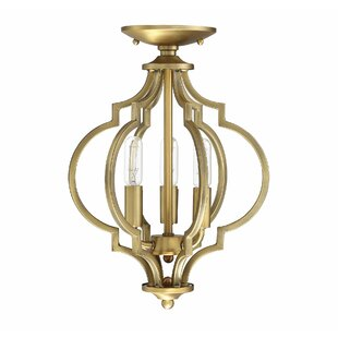 Millis 3- Light Semi Flush Mount by House of Hampton