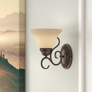 Claycomb 1-Light Armed Sconce By Fleur De Lis Living Wall Lights