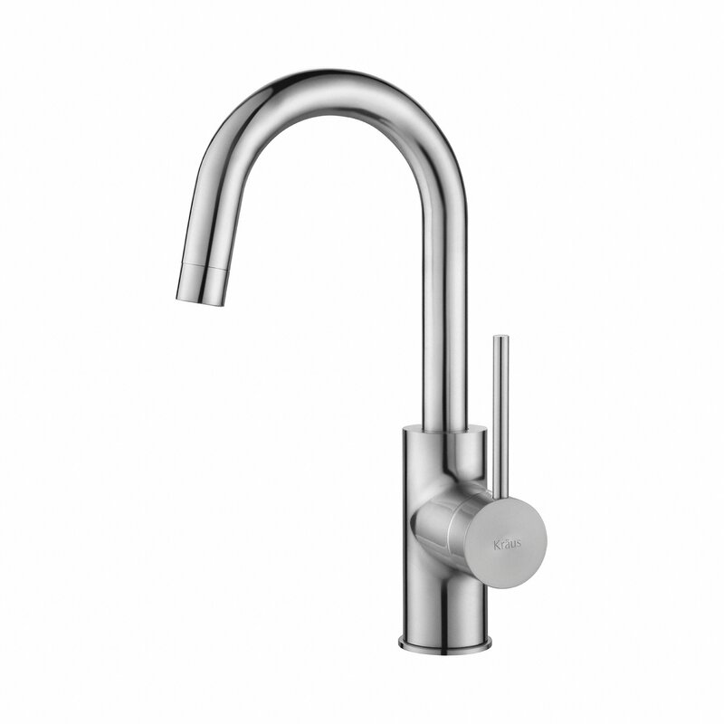 Kraus  Oletto Single Handle Bar Faucet Finish: Chrome