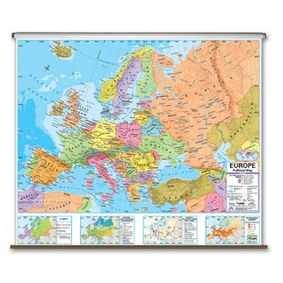 Latitude Map Of Europe.Map Of Europe Wayfair