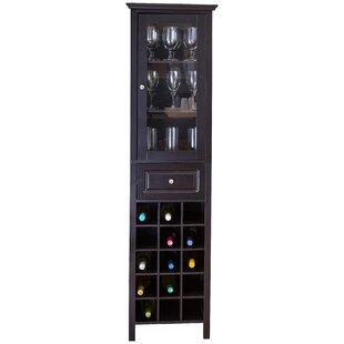 Burley 15 Bottle Floor Bar with Wine Storage by Andover Mills
