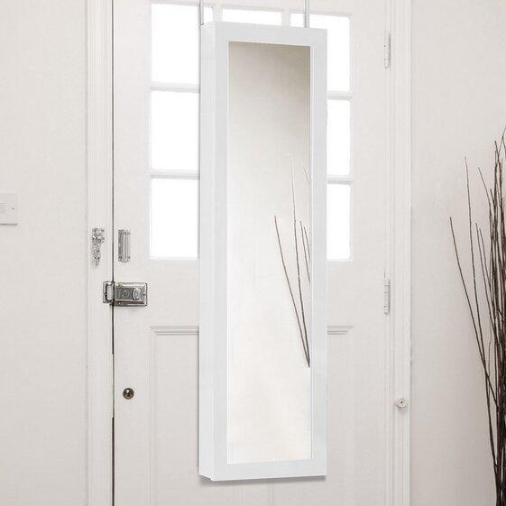 Baxton Studio Reflections Over the Door Jewelry Armoire with Mirror & Over the Door Jewelry Armoires Youu0027ll Love | Wayfair pezcame.com