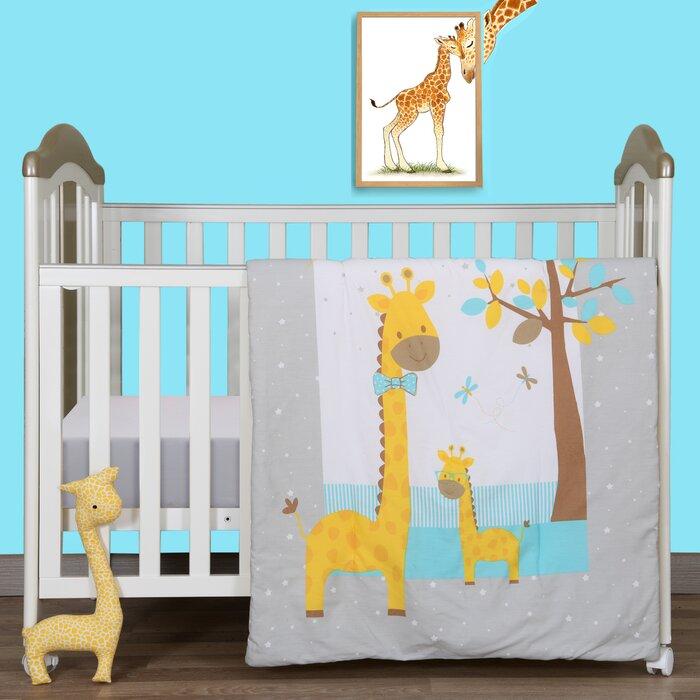 Mccardle Happy Giraffe Zoomie 2 Piece Crib Bedding Set