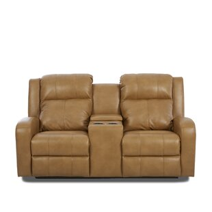 Red Barrel Studio Acorn Oaks Reclining Sofa with Headrest and Lumbar Support