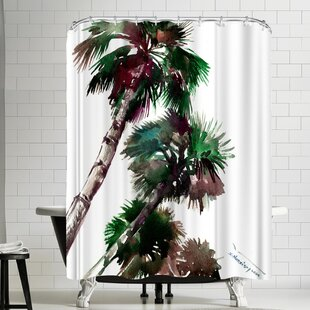 Suren Nersisyan Palm Trees Single Shower Curtain