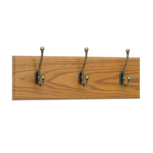 Traditional 3 Hook Coat Rack By Symple Stuff