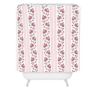 Lisa Argyropoulos Vintage Floral Stripes Single Shower Curtain