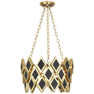 Robert Abbey Edward 3-Light Geometric Pendant