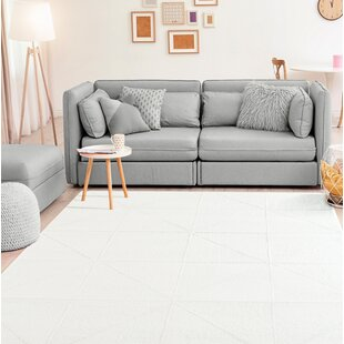 Top Reviews Wardlow Accent White Area Rug ByWrought Studio