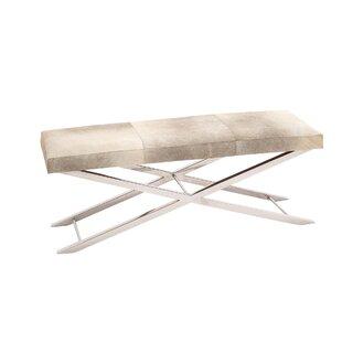 Orren Ellis Everman Modern Rectangular Metal Bench