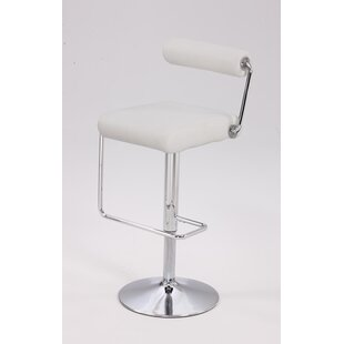 Adjustable Height Swivel Bar Stool by Chintaly Imports No Copoun