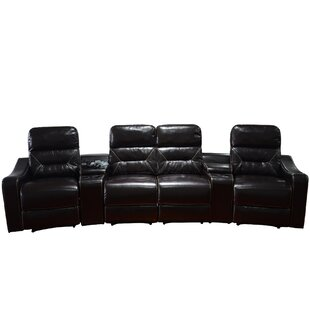 Ebern Designs Leather Home Theater Recliner (Row of 4)
