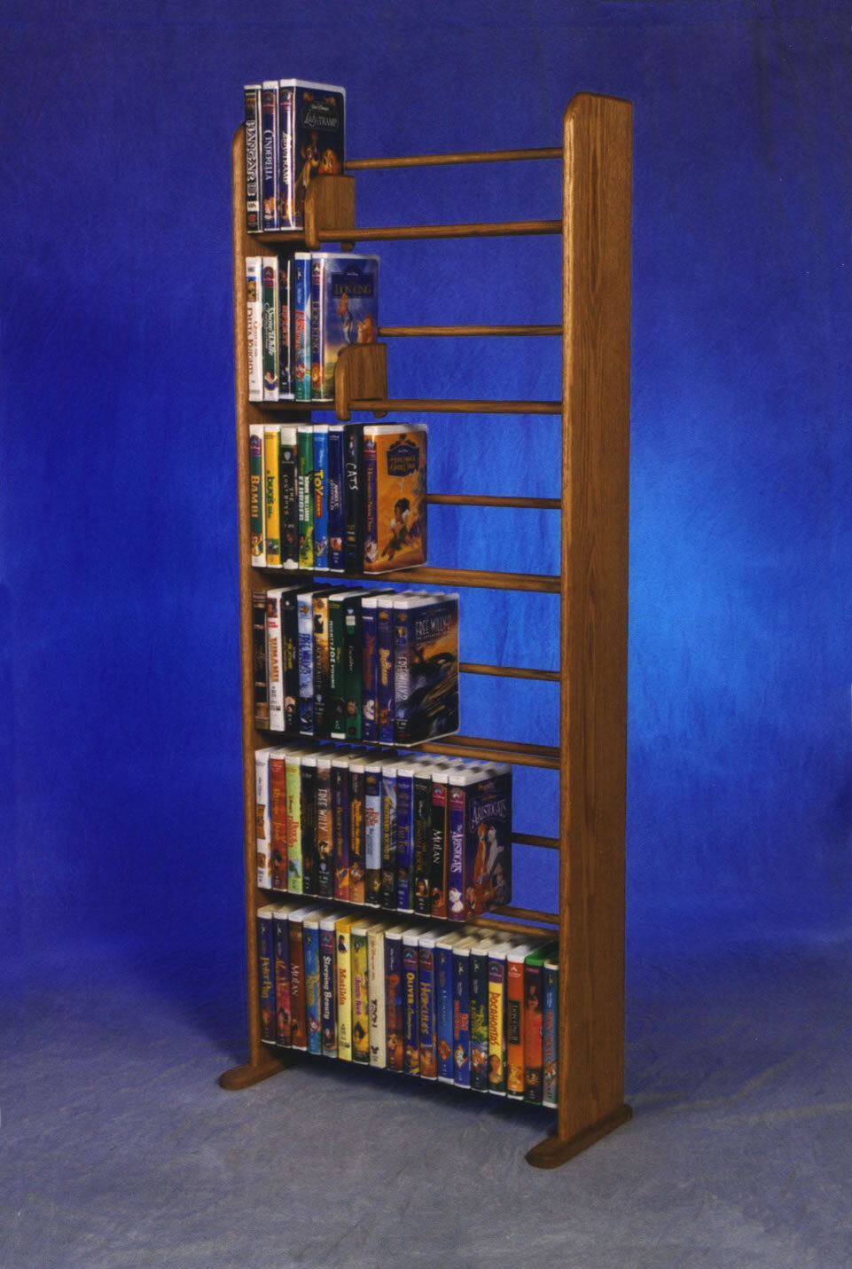 Wood Shed Delux VHS Dowel Multimedia Storage Rack | Wayfair