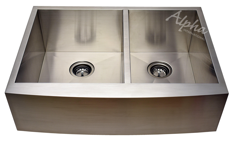 Alpha International 33 L X 22 W Undermount Kitchen Sink Reviews Wayfair