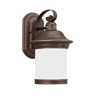 Bloomsbury Market Brettany 1-Light Aluminum Outdoor Wall Lantern