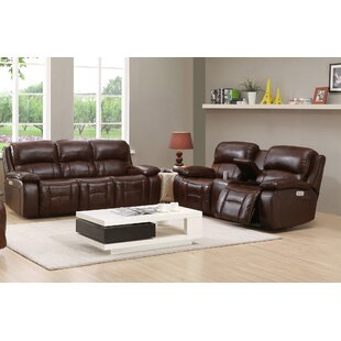 Westminster II Reclining Leather 2 Piece Living Room by HYDELINE