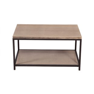 Brushed Gray Bamboo Coffee Table by Ebern..