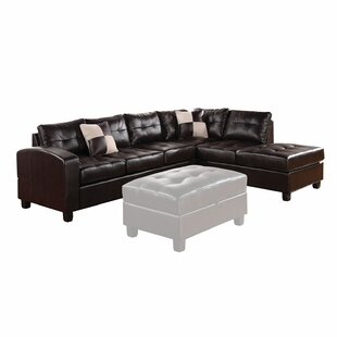 Latitude Run Chassidy Reversible Sectional with Ottoman