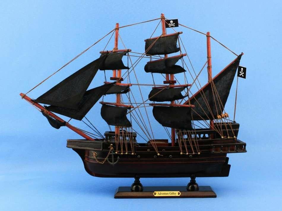 Captain Kidd's Adventure Galley Model Ship