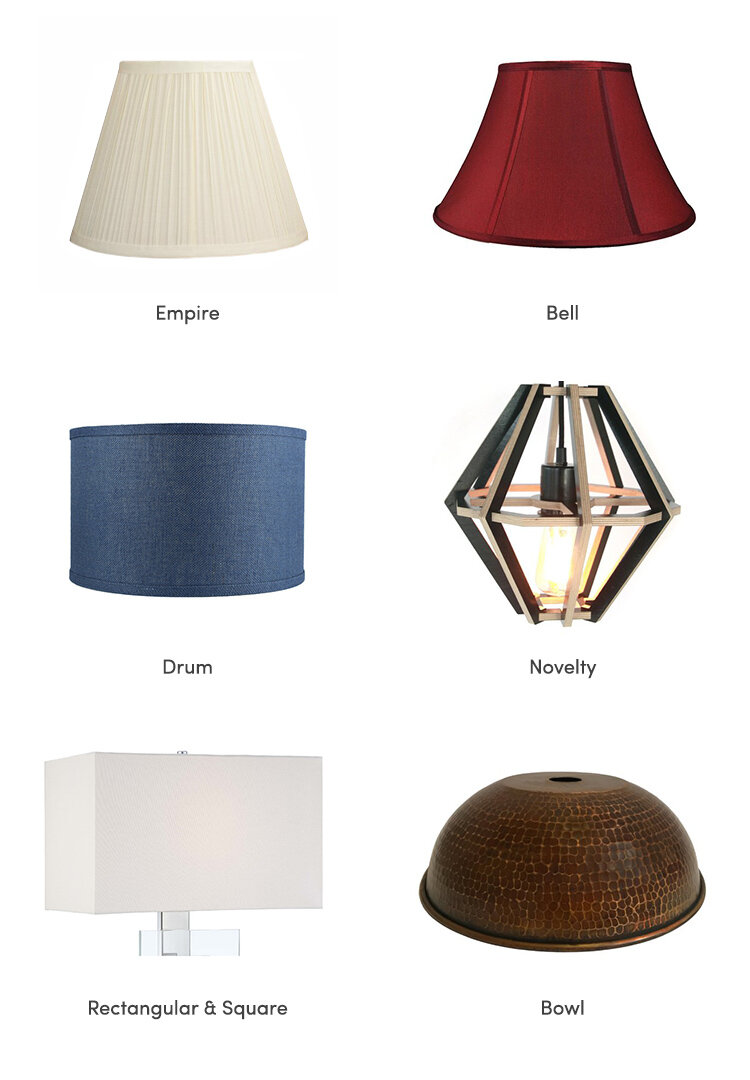 Lighting 101 Types Of Lamp Shades