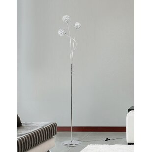 Floating crystal floor lamp wayfair 151cm uplighter floor lamp mozeypictures Images