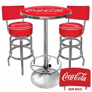 Coca Cola 3 Piece Pub Table Set by Trademark Global