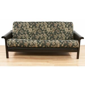 Easy Fit Ashante Floral Box Cushion Futon Slipcover