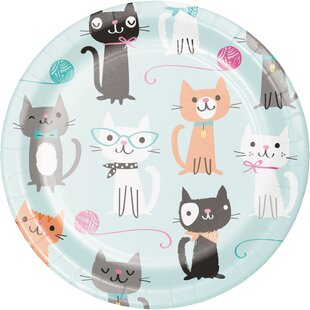 Cat Party Appetizer Plate (Set of 24)
