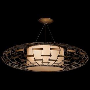 Entourage 3-Light Geometric Chandelier by Fine Art Lamps
