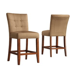 Doerr 24 Wood Framed Bar Stool (Set of 2) Charlton Home