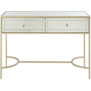 Trujillo Metal and Mirror Console Table by Mercer41