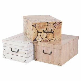 3 Piece Storage Box Set By Alpen Home