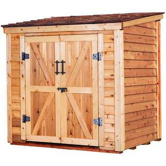 4 Ft D Solid Wood Lean To Storage Shed