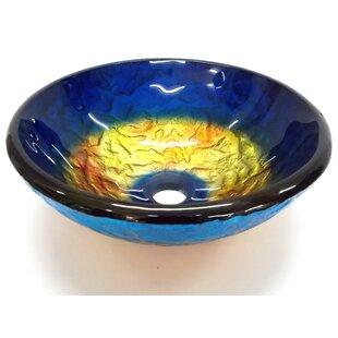 Affordable True Planet Glass Circular Vessel Bathroom Sink ByEden Bath