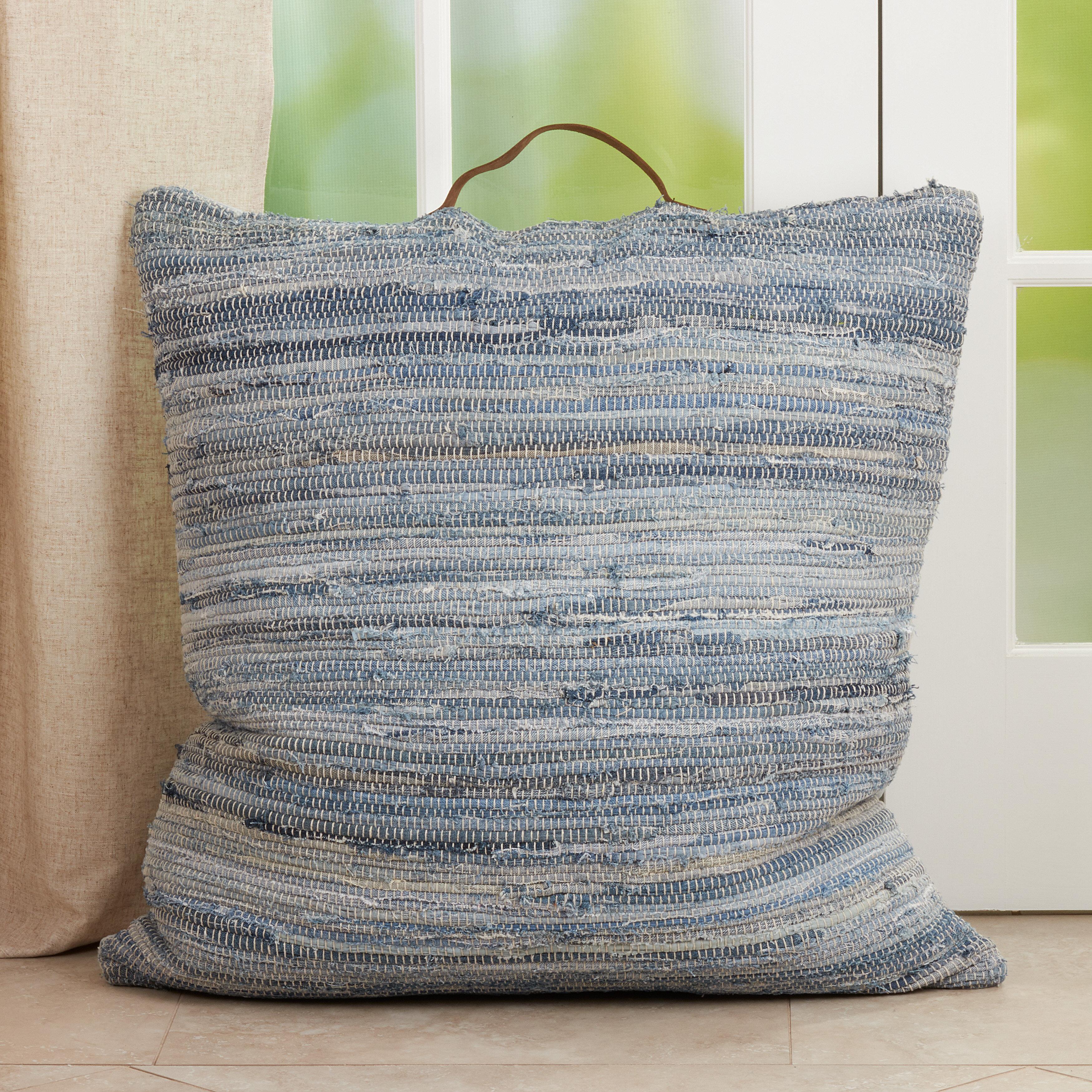 Highland Dunes Javen Woven Square 100 Cotton Pillow Cover Insert Wayfair
