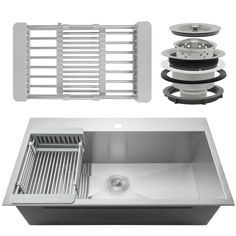 Drop in kitchen sinks youll love wayfair save to idea board workwithnaturefo