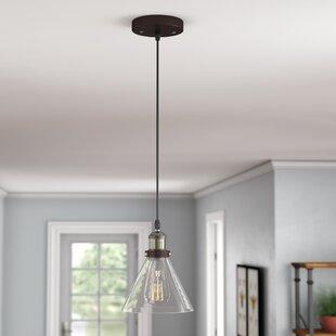 Best Reviews Bouvet 1-Light Cone Pendant By Laurel Foundry Modern Farmhouse