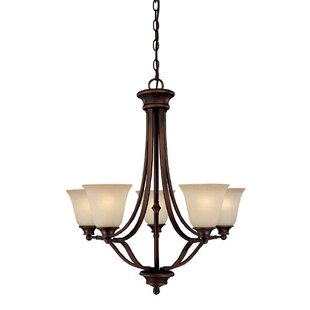 Lindenwood 5-Light Shaded Chandelier by Charlton Home